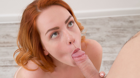 All natural redhead craves cum